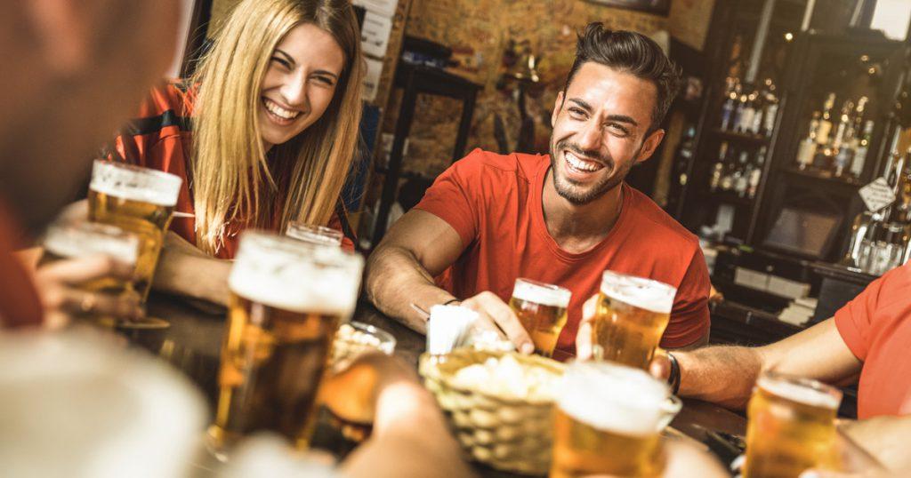 glas met bier